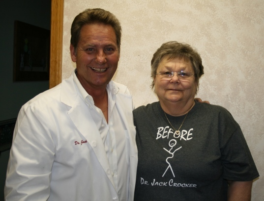 Image of the Dr. with a client