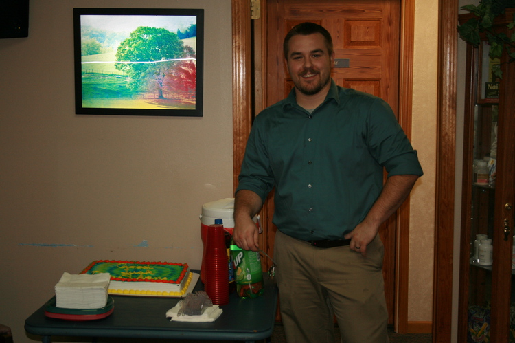 Image of Dr. Shane with the Cake