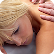 Image of a woman receiving a massage